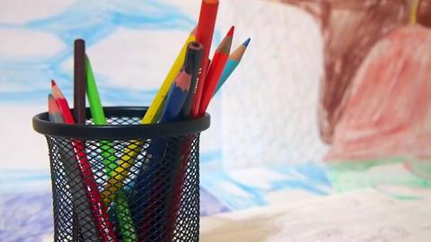 Color Pencil with Draws Footage