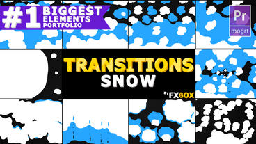 Snow Transitions Motion Graphics Template