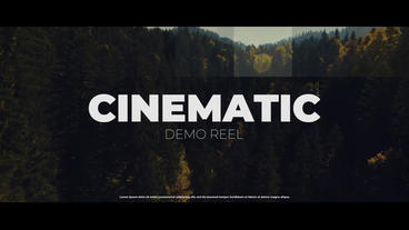 Cinematic Demo Reel Premiere Pro Template