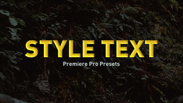 Style Text Premiere Pro Preset