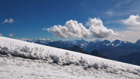 Landscape view of Caucasus mountains ビデオ
