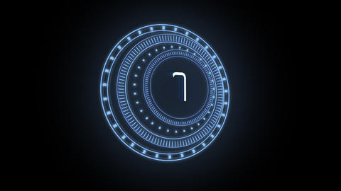 Futuristic Dials Countdown CG動画素材
