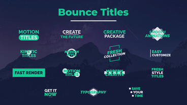 Bounce Titles Motion Graphics Template