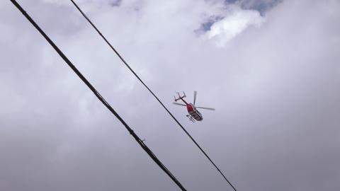 Medical helicopter over the city Footage