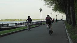 River Embankment Promenade Timelapse 4K stock footage