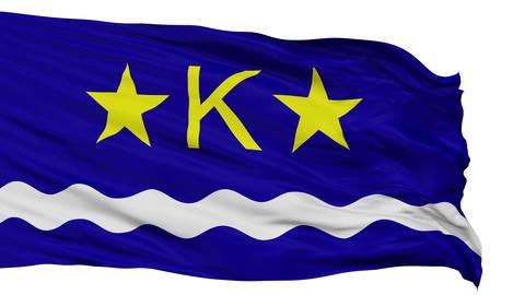 Kinshasa City Isolated Waving Flag Animation