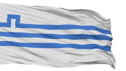 Podgorica City Isolated Waving Flag Animation
