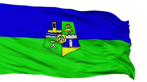 Rabat City Isolated Waving Flag Animation