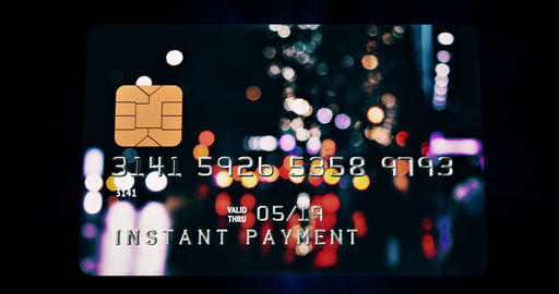 Bank Card / Instant Payment / Digital Globe Footage