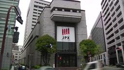 TOKYO STOCK EXCHANGE BUILDING EXTERIOR WIDE SHOT stock footage