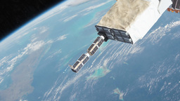 CubeSat Launch Animation
