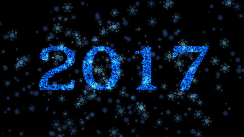 Happy New Year,Christmas,3d Winter Background 2017 stock footage
