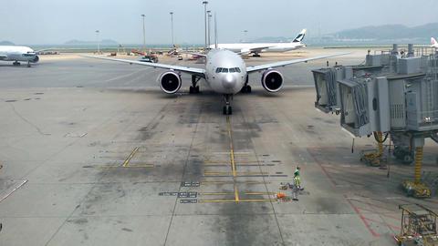 "Hong Kong - April 6, 2016: Airplane Company ""Aeroflot""... Stock Video Footage"