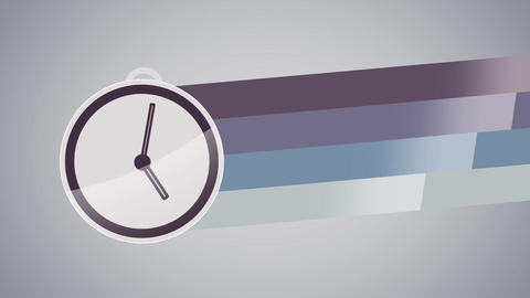 Watches with colorful lines label flat animation Animation