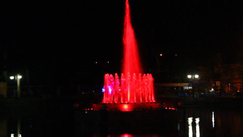 vivid colors of the fountain Footage