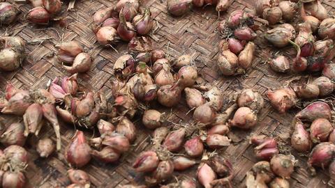 dry onions on basket Footage