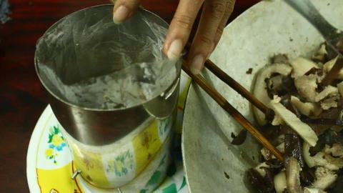 making making sausag from pork, Asia Footage