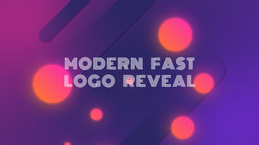 Modern Fast Logo Reveal After Effectsテンプレート