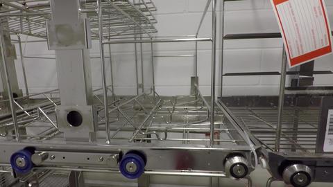 Metal racks in hospital , Steel wire shelves Live Action