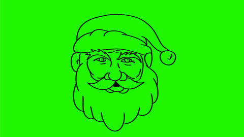 Santa Claus Transform Merry Xmas Drawing 2D Animation Animation
