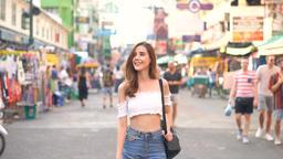 Travel Tourist Happy Soi Khaosan Road, Bangkok Thailand GIF