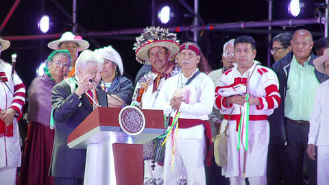 New Mexican President does a speech to the people 영상물