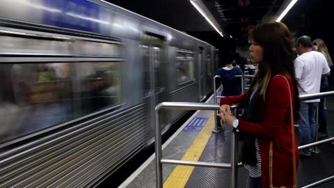 The subway in Sao Paulo Brasil Footage