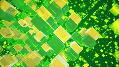 Revolting Macrostructure of Salad Cubes Animación