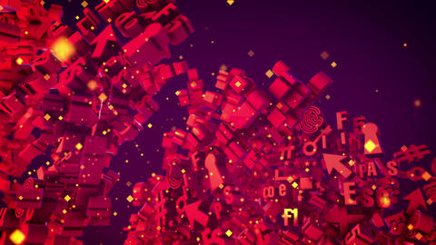 Revolting Abstract Purple 3D PC Signs Animation