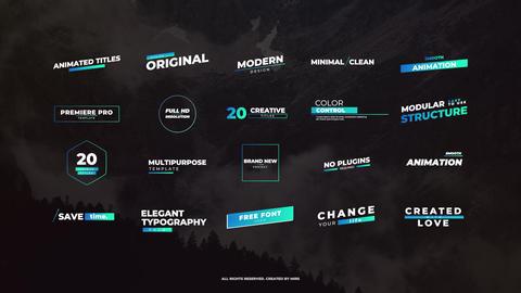 Creative Titles Premiere Proテンプレート