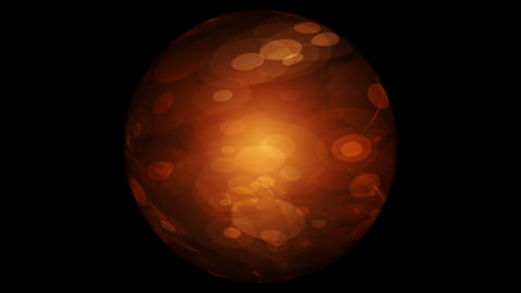 Abstract Orange Sphere On Black Background Animation