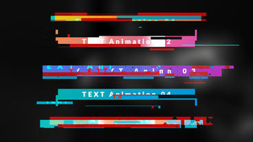 Boxed Glitch Titles After Effects Template