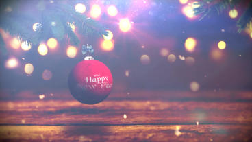 CHRISTMAS BALL TITLES After Effects Template