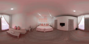 bedroom interior in hotel. vr360 VR 360° Video