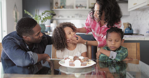 African American family celebrating a birthday Footage