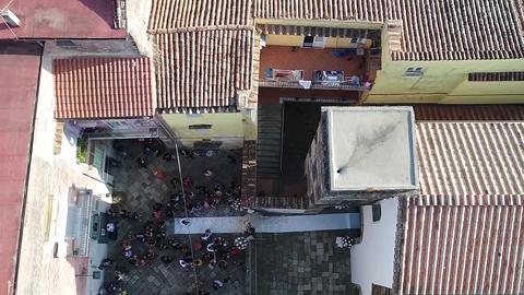 Aero shooting, an old Italian city ビデオ