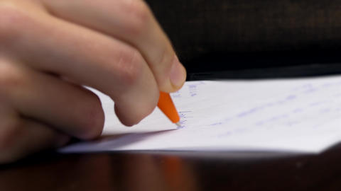Writing Ideas On A Sheet of Paper Close Up GIF