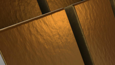 Animation - Abstract golden cubes rotate Animation