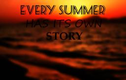 beautiful drawn lettering every summer has it's own story Vector