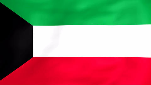 Flag Of Kuwait Animation