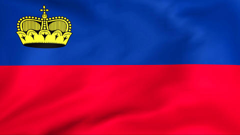 Flag Of Liechtenstein Stock Video Footage