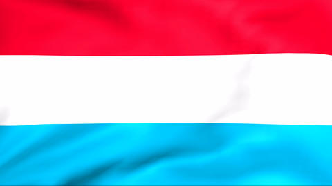 Flag Of Luxembourg Stock Video Footage