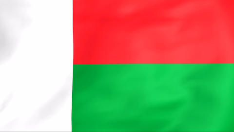 Flag Of Madagascar Stock Video Footage