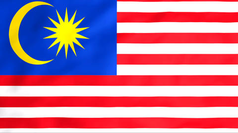 Flag Of Malaysia Stock Video Footage