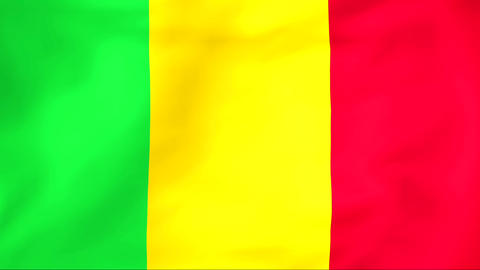 Flag Of Mali Stock Video Footage