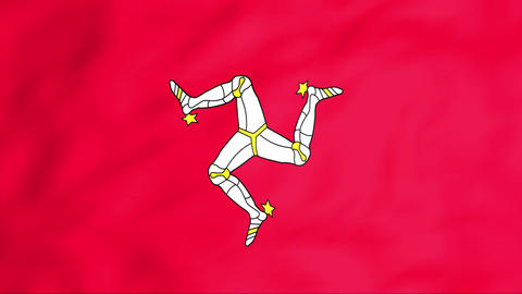 Flag Of Isle of Man Stock Video Footage