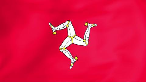 Flag Of Isle of Man Animation