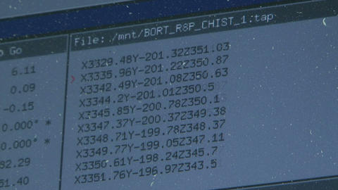 Numerical Matrix stock footage