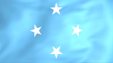 Flag Of Federated States Of Micronesia stock footage