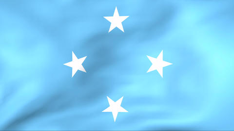 Flag Of Federated States of Micronesia Stock Video Footage
